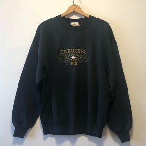Vintage Tops - Vintage Black Carousel Crewneck Sweater